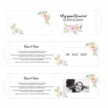 Floral Chic ChangeCard Trouwkaart