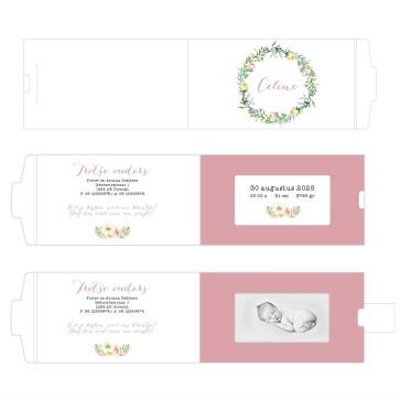 PRetty Floral ChangeCard geboortekaart