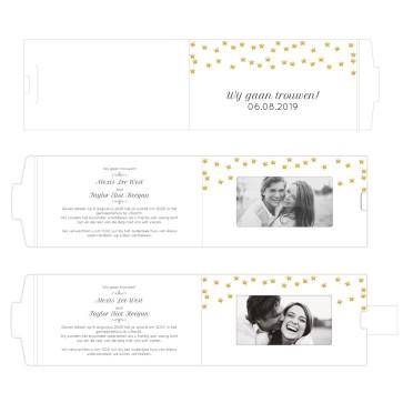 Golden Star ChangeCard Trouwkaart
