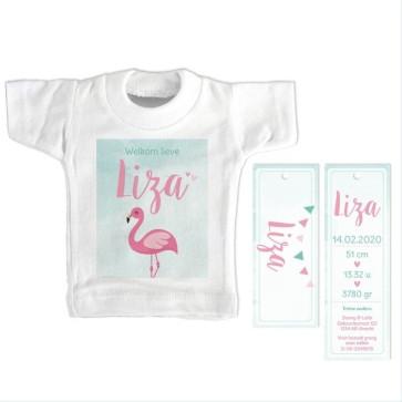 Tropical Bird Mini T-Shirt Geboortekaartje