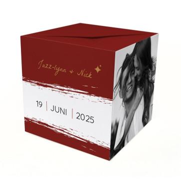 Bordeaux Paint Out of the Box Trouwkaart