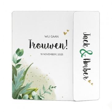 Ontwerp zelf jullie Kalkpapier Trouwkaart