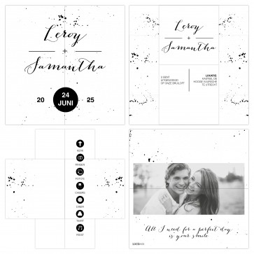 Classic Wedding Turning Card Trouwkaart