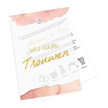 Love Quote Kalkpapier Trouwkaart