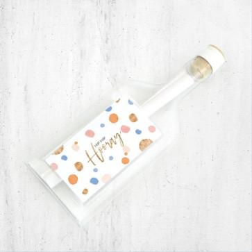 Flessenpost Wenskaart - Sparkling Bubbles