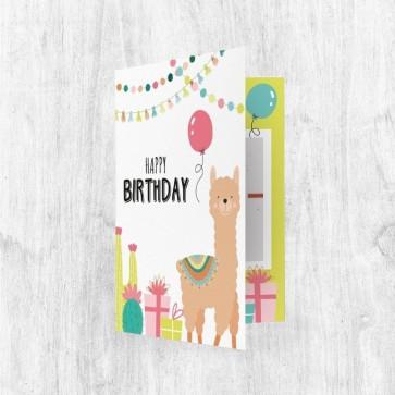 Muziekkaart Wenskaart - Birthday Lama
