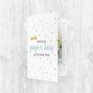 Muziekkaart Wenskaart - Special Paper Hug