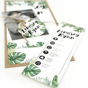 Botanical Pakket Trouwkaart