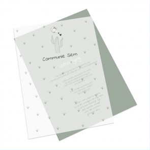 Iconic Vellum Communiekaart