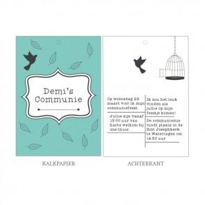 Feathers Vellum Communiekaart