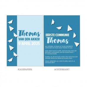 Paper Planes Vellum Communiekaart