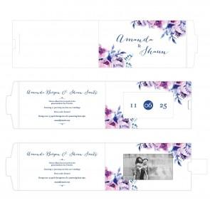 Cosy Purple ChangeCard Trouwkaart