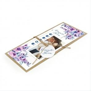 Cosy Purple Pakket Trouwkaart