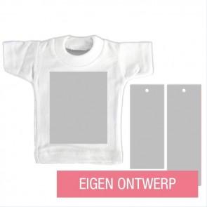 Mini T-Shirt geboortekaartje Ontwerp Zelf design