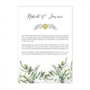 Olive Flessenpost Trouwkaart