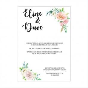 Floral Chic Flessenpost Trouwkaart