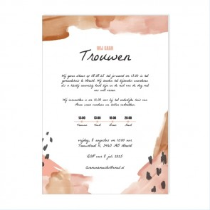 Conga Flessenpost Trouwkaart