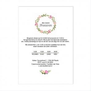 Bohemian Flowers Flessenpost Trouwkaart