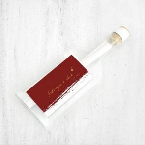 Bordeaux Paint Flessenpost Trouwkaart