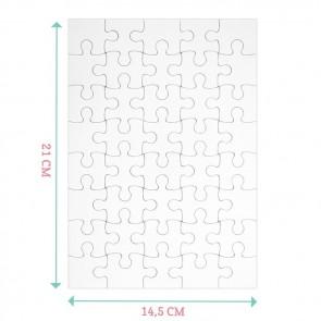 Doodle Puzzel Geboortekaartje