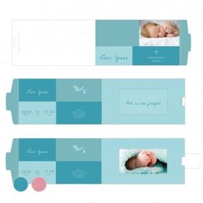Baby Blocks Blauw ChangeCard geboortekaart