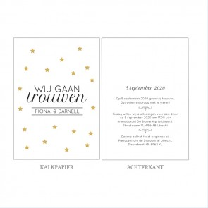Golden Star Vellum Trouwkaart