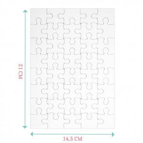 Floral Chic Puzzel Trouwkaart