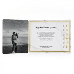 Marble & Gold - Drieluik Omslagkaart