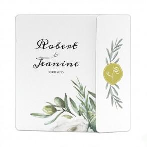 Drieluik Omslagkaart Trouwkaart - Olive