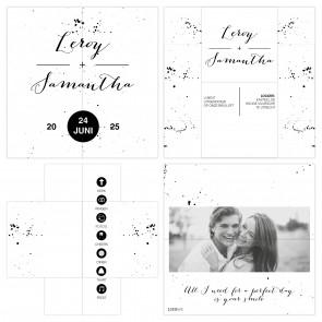Classic Wedding Turning Card Trouwkaart