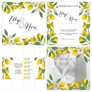 Lemon Turning Card Trouwkaart