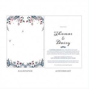 Winter Wedding Vellum Trouwkaart