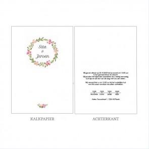 Bohemian Flowers Vellum Trouwkaart