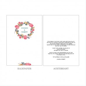 Bouquet Vellum Trouwkaart