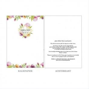 Floral Vellum Trouwkaart