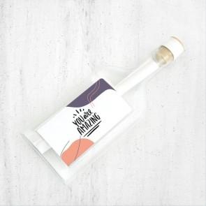 Flessenpost Wenskaart - Happiness