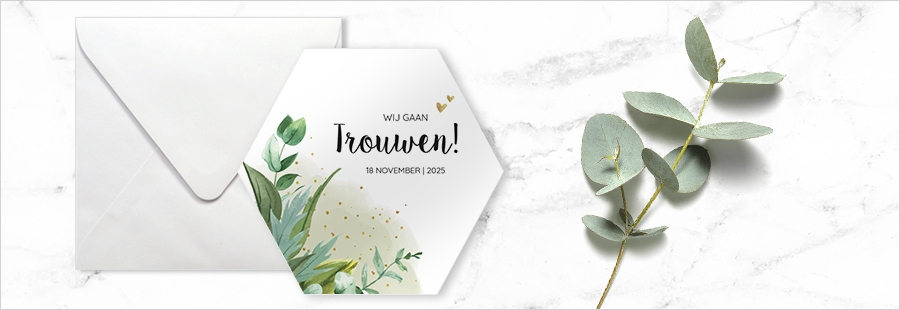 goedkope-trouwkaart-inspiratie-hexagoon