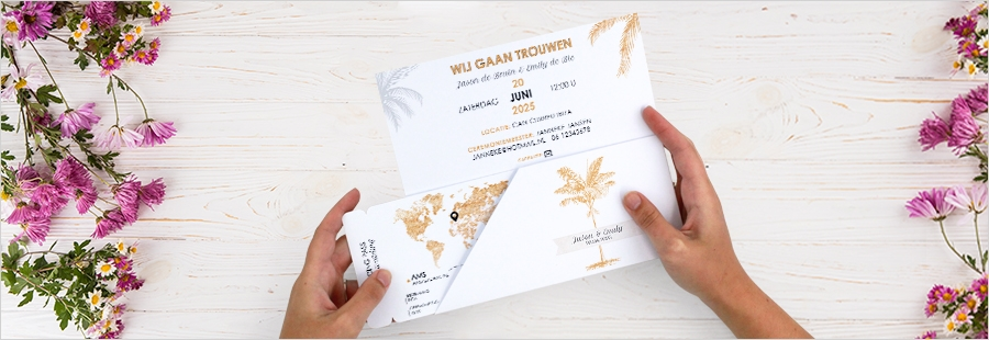 vliegticket-trouwkaart-bruiloft-buitenland