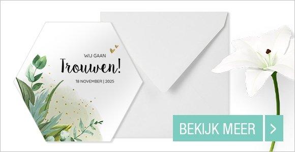 trouwkaarten-hexagoon-uitnodiging