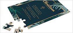 Bekijk de puzzel trouwkaart