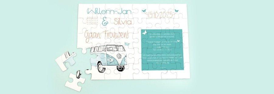 puzzel-als-trendy-trouwkaart