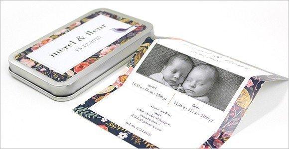 tweeling-geboortekaartje