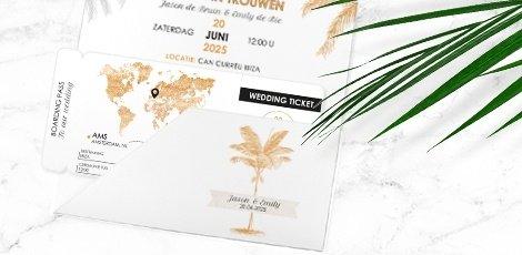 vliegticket-trouwkaart