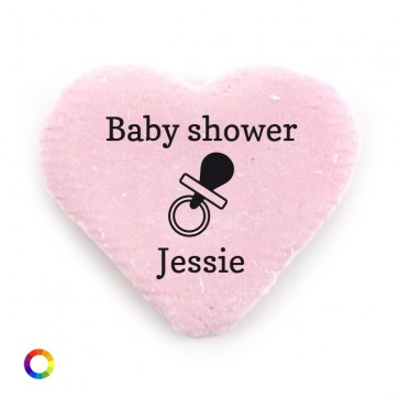 big candy hearts baby shower favours pram