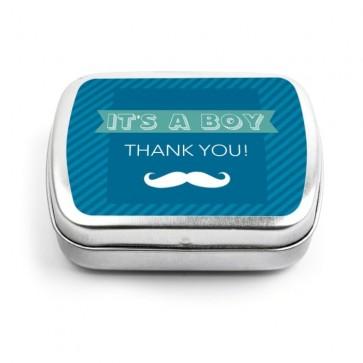 Moustache Mint Tins
