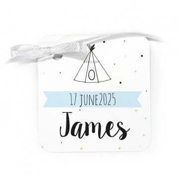 Classic Baby Shower Favour Tags