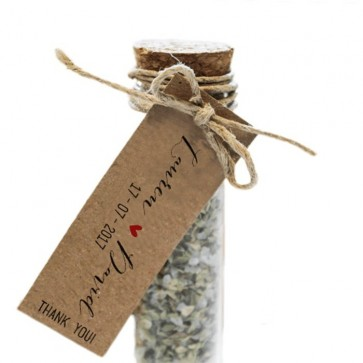 Herbal Gift Tubes Basic Label wedding favours