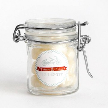 Bicycle Weck Jar wedding favours