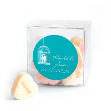 Candy Cube wedding favour LoveBirds