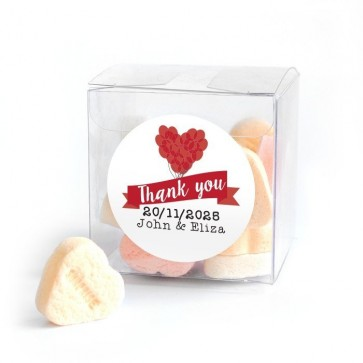 Balloon Candy Cube wedding favour